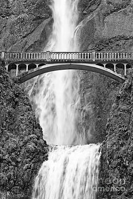 Close Up View Of Multnomah Falls Poster by Jamie Pham
