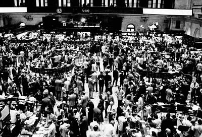 Closing Time On The Trading Floor Poster by Everett