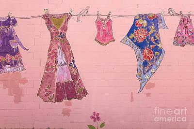 Clothes Line Mural Burlington Vermont Poster by Edward Fielding