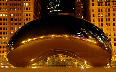 Cloud Gate At Night Poster by Art Spectrum