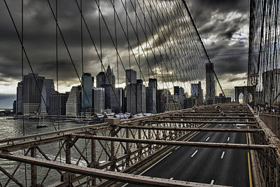Clouds Over Manhattan Poster by Andreas Freund