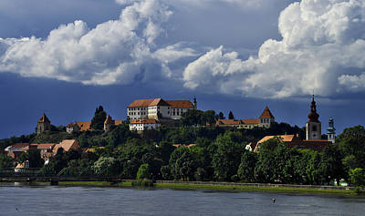 Clouds Over Ptuj Castle Poster by Ivan Slosar