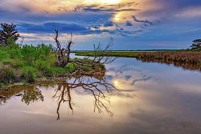 Cloudy Sunset On Assateague Island Poster by Rick Berk