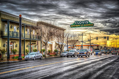 Clovis California Poster by Spencer McDonald