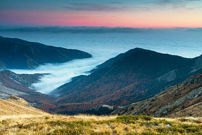 Coast In The Clouds Poster by Evgeni Dinev