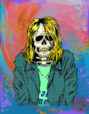 Cobain Poster by Andre Peraza