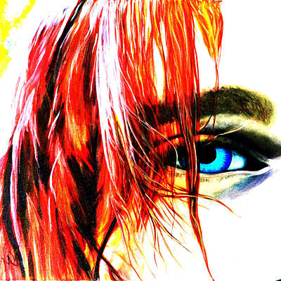 Cobain Red Hair, Cropped Poster by Mary Wheeler