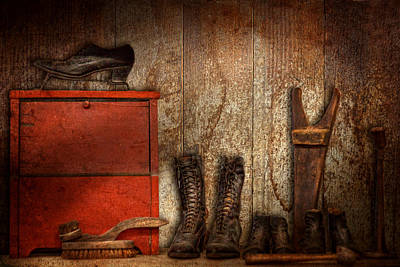 Cobbler - The Shoe Shiner 1900  Poster by Mike Savad