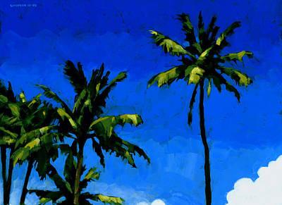 Coconut Palms 5 Poster by Douglas Simonson