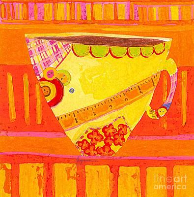 Coffe Mug - Teacup - Tailor Colorful Design Illustration  Poster by Patricia Awapara