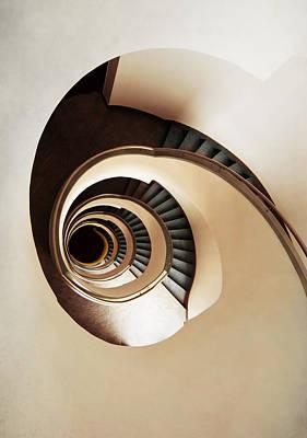 Coffee And Milk Spiral Staircase Poster by Jaroslaw Blaminsky