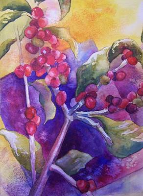Coffee Berries Poster by Sandy Collier