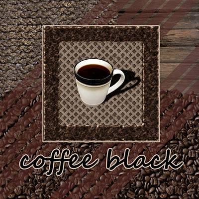 Coffee Black - Coffee Art Poster by Anastasiya Malakhova