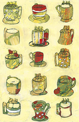 Coffee For Fifteen Poster by Jennifer Lommers