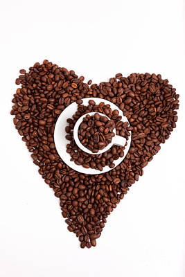Coffee Heart Poster by Nailia Schwarz