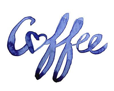 Coffee Love Poster by Olga Shvartsur