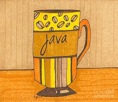 Coffee Mug - Java Cup - Cup Of Joe - Morning Coffee Illustration Art Poster by Patricia Awapara