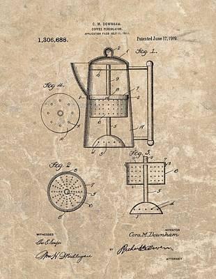 Coffee Percolator Patent Poster by Dan Sproul