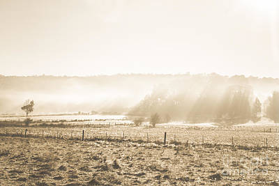 Cold Mysterious Winter Prairie Poster by Jorgo Photography - Wall Art Gallery