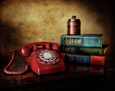Cold War Red Telephone Poster by David and Carol Kelly