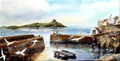 Coliemore Harbour Poster by Kate Bedell
