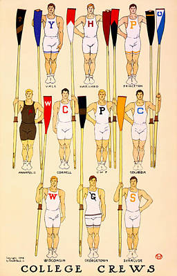 College Rowing Crews 1908 Poster by Mountain Dreams