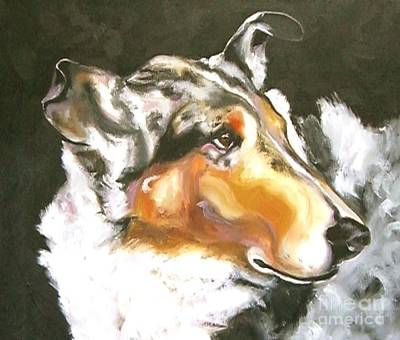 Collie Merle Smooth 2 Poster by Susan A Becker