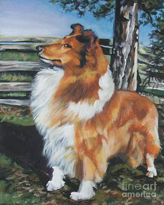 Collie On The Farm Poster by Lee Ann Shepard