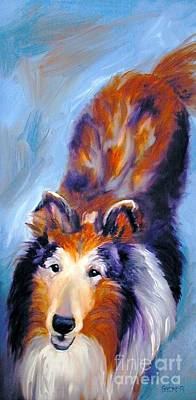 Collie Sable Rough 1 Poster by Susan A Becker