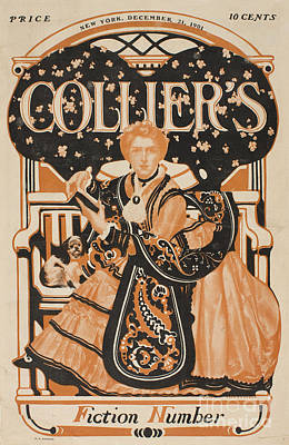 Collier. Fiction Number Poster by Leyendecker