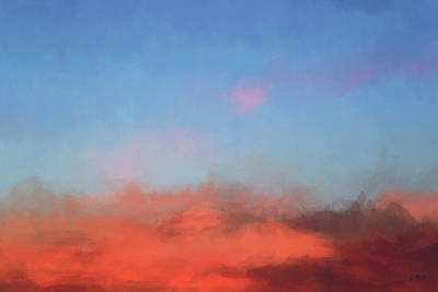Color Abstraction Xlvii - Sunset Poster by David Gordon