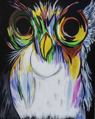 Color Owl Poster by Donna Marshall