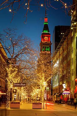 Colorado Christmas In Denver Poster by Teri Virbickis