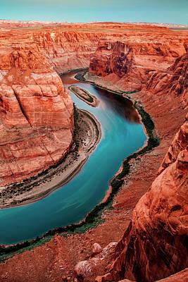 Colorado River Bend Poster by Az Jackson