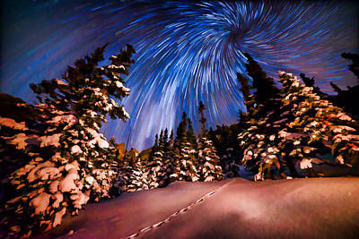 Colorado Starry Night Poster by Mike Berenson