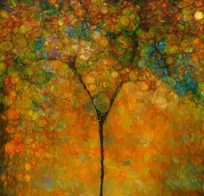 Colorful Abstract Tree Poster by Dan Sproul