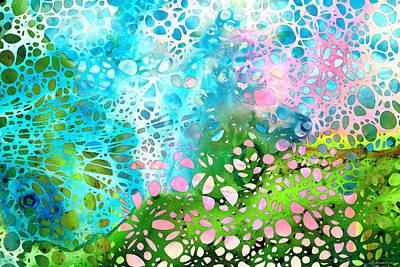 Colorful Art - Enchanting Spring - Sharon Cummings Poster by Sharon Cummings