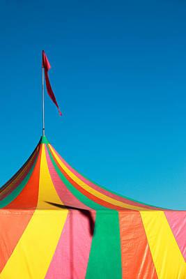 Colorful Big Top Tent At The Fair Poster by Todd Klassy