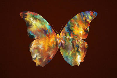 Colorful Butterfly Poster by Art Spectrum