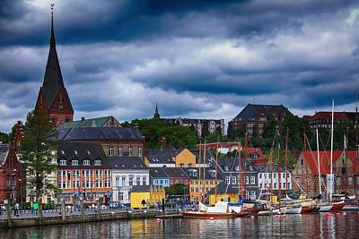 Colorful Flensburg Poster by Mountain Dreams