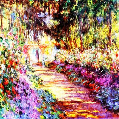 Colorful Garden Poster by Munir Alawi