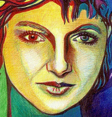 Colorful Lady Poster by Jerry  Stith