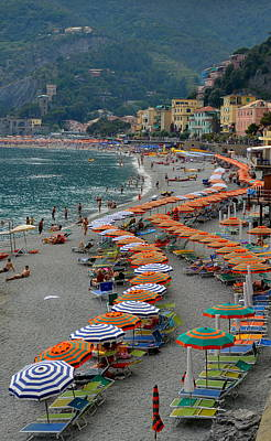 Colorful Monterosso Poster by Corinne Rhode