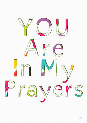 Colorful Prayers- Art By Linda Woods Poster by Linda Woods