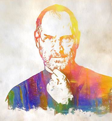 Colorful Steve Jobs Poster by Dan Sproul