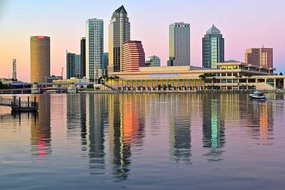 Colorful Tampa Bay Poster by Frozen in Time Fine Art Photography