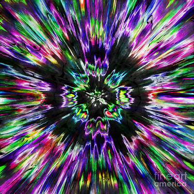 Colorful Tie Dye Abstract Poster by Phil Perkins