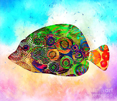 Colorful Tropical Fish Print Poster by Stacey Chiew