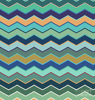 Colorful Wave II Poster by Amir Faysal