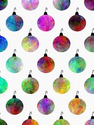 Colors Of Christmas Poster by Kathleen Sartoris